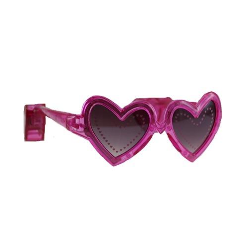 Hartjes bril met licht pink