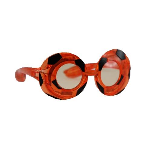 Voetbal bril zwart/oranje met licht