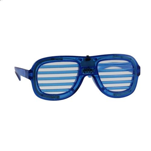 Lamellenbril blauw met licht