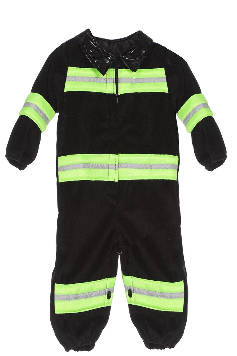 Brandweerman onesie zwart/geel voor baby