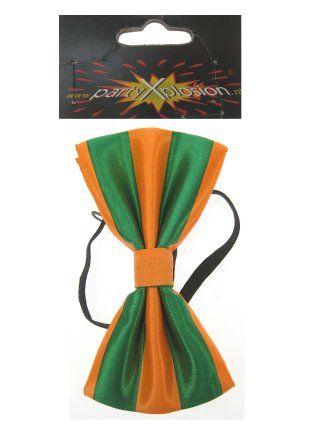 Strik luxe oranje/groen