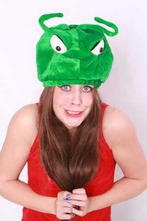 Monster mier hoed groen