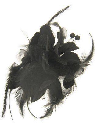 Haarklem zwarte bloem met besjes