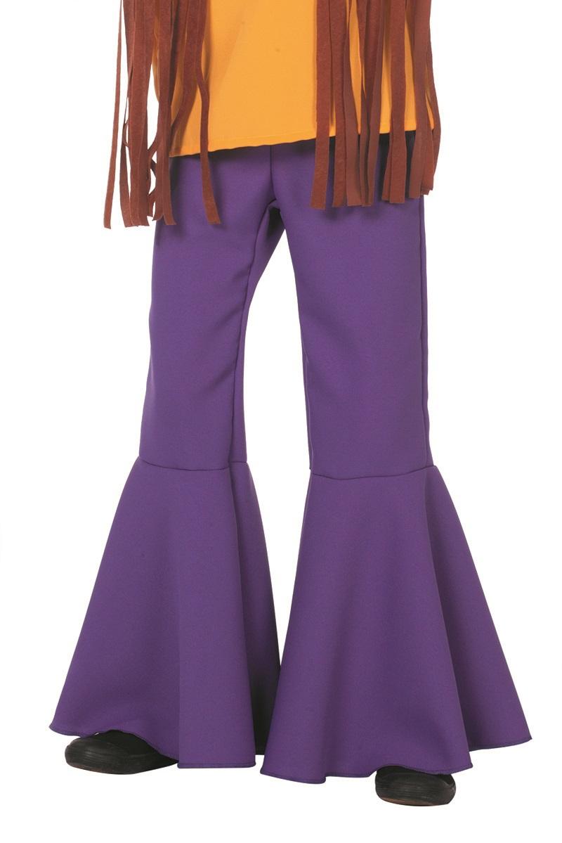 Hippie broek paars voor kind