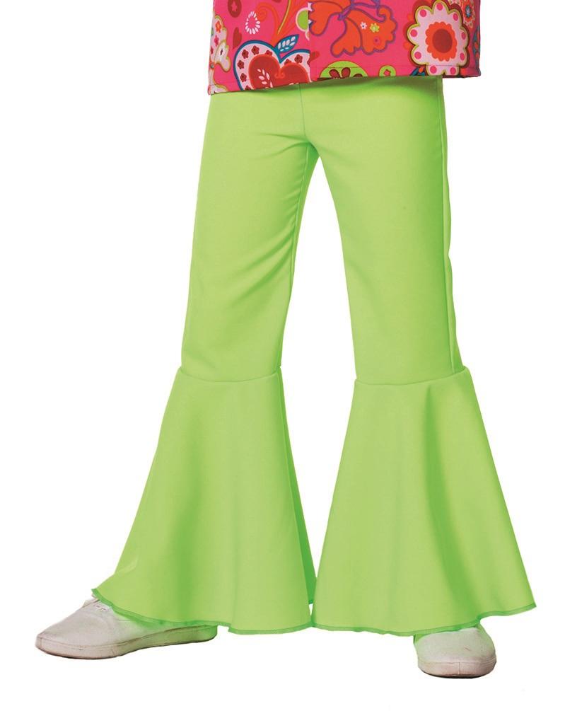 Hippie broek neon groen voor kind