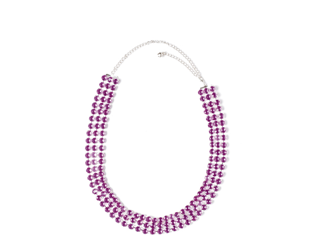 Heupketting strass paars