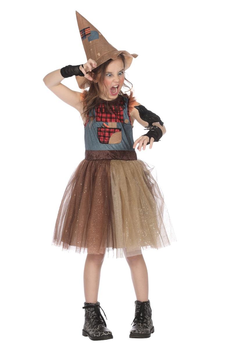 Vogelverschrikker jurk voor meisje