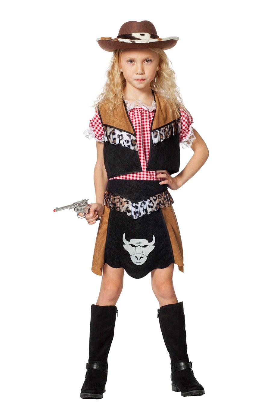 Cowgirl kostuum Buffalo voor meisje