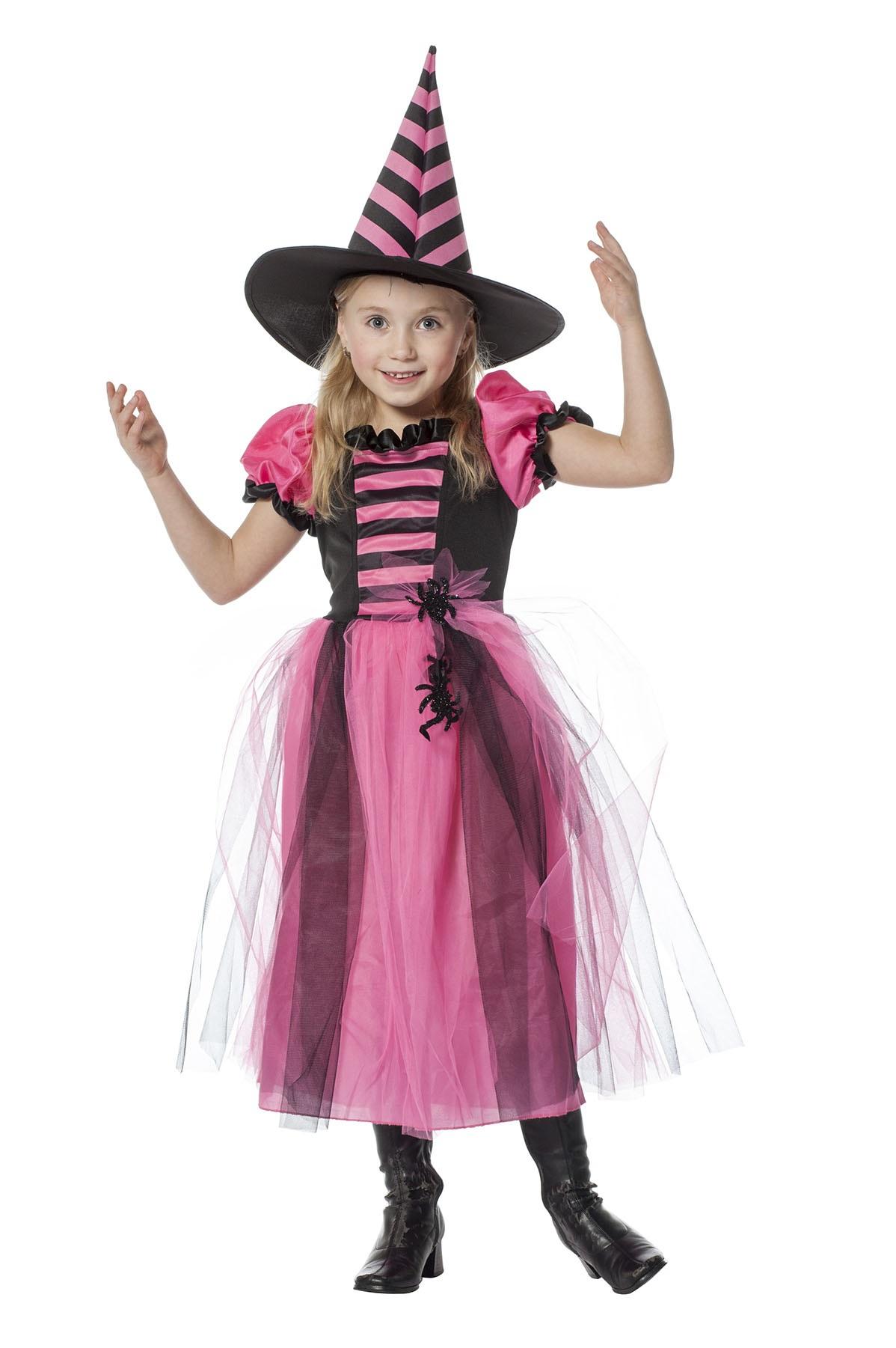 Heks roze/zwart voor meisje