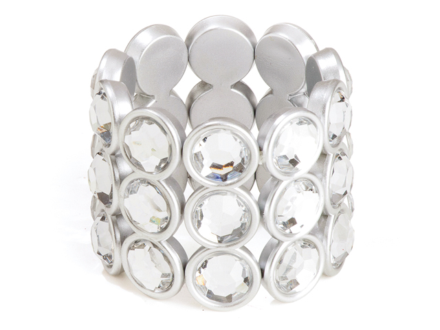 Armband glamour zilver