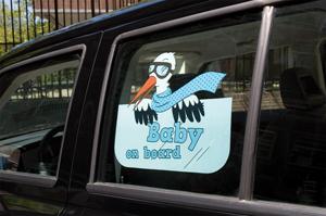 Sticker Baby on board blauw