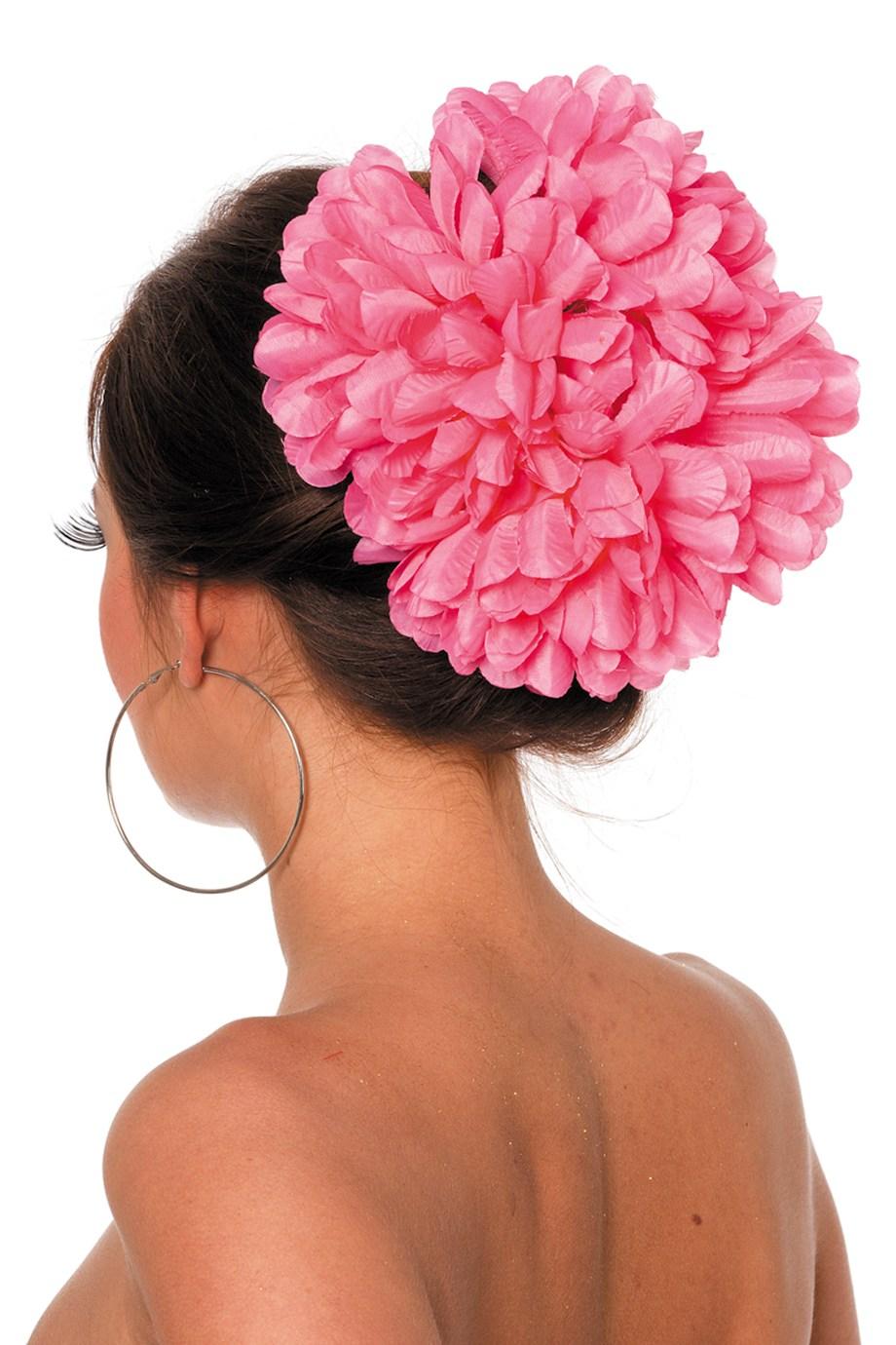 Hawai bloemenclip groot pink
