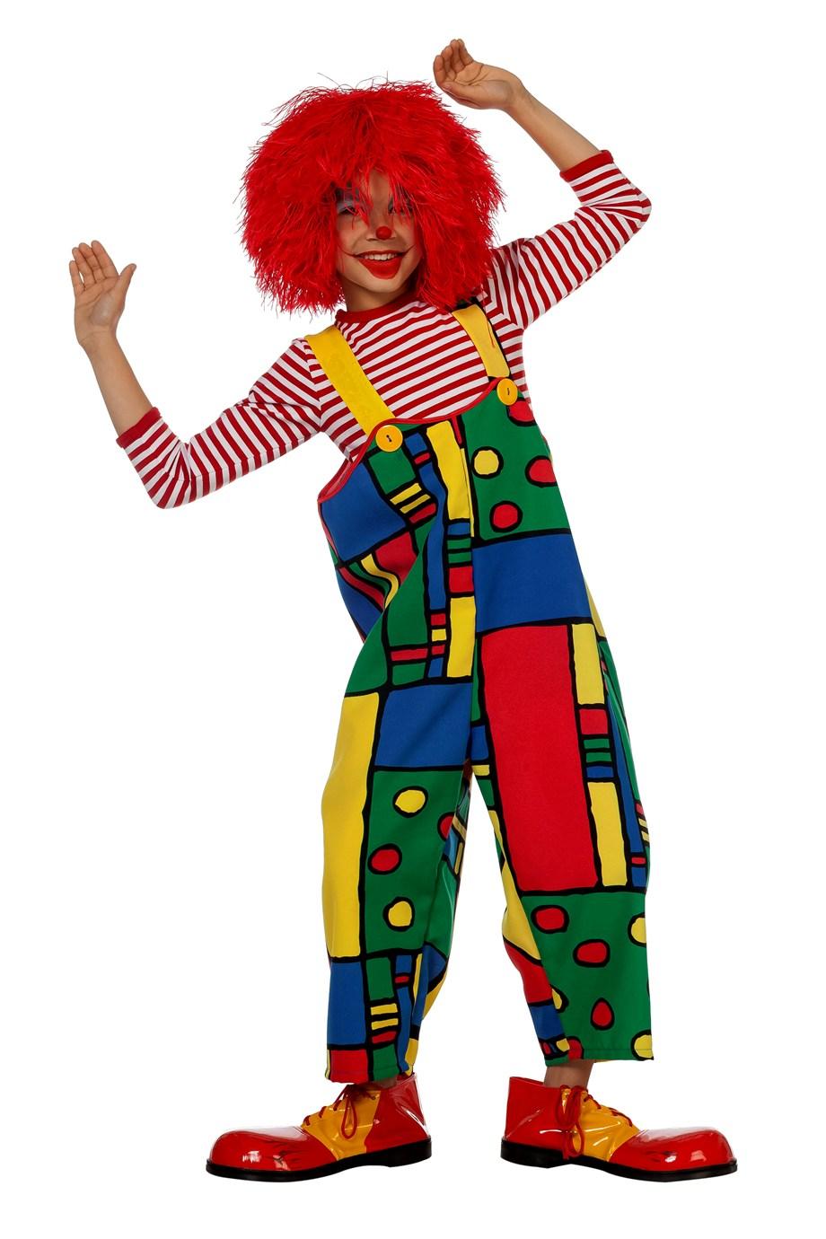 Clownsbroek met Mondriaan print voor kind