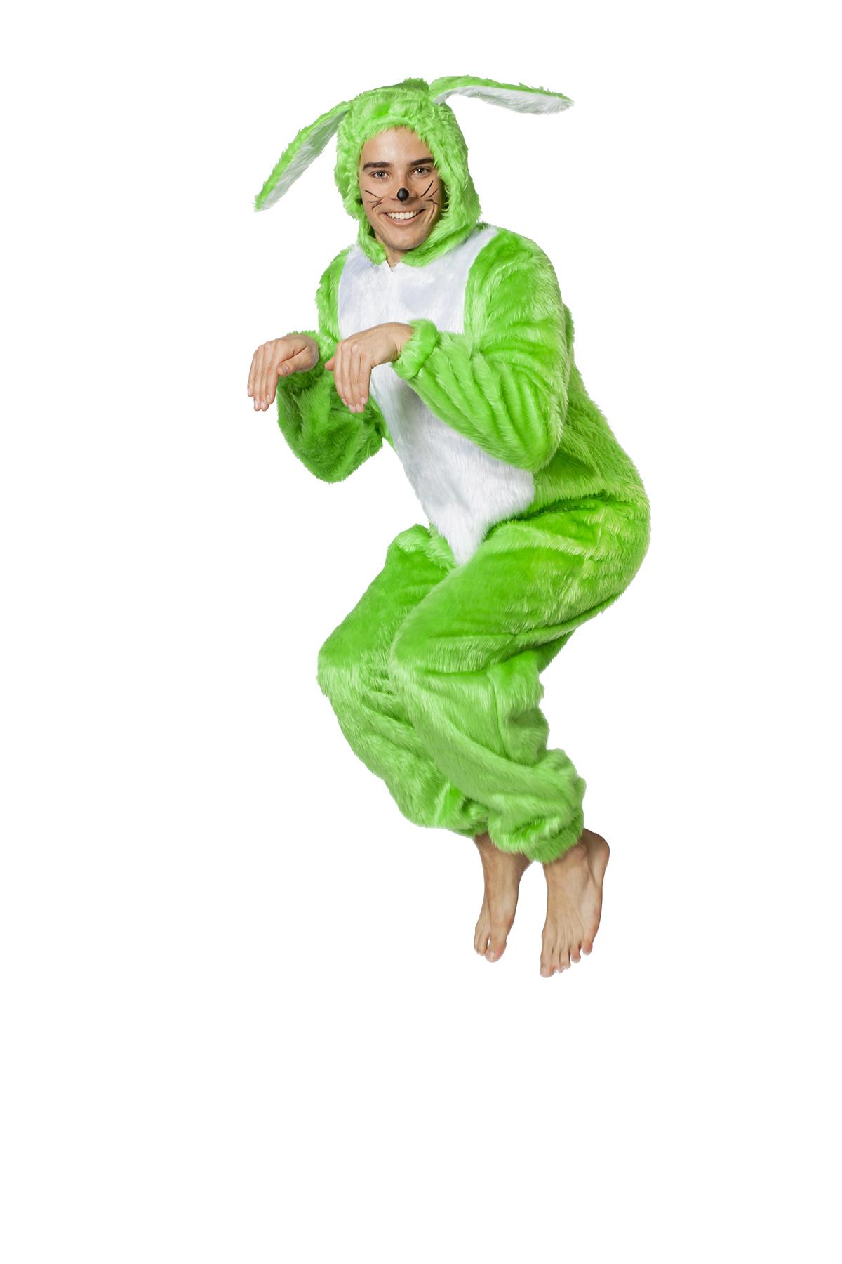 Haas kostuum neon groen