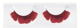 Wimpers veren rood