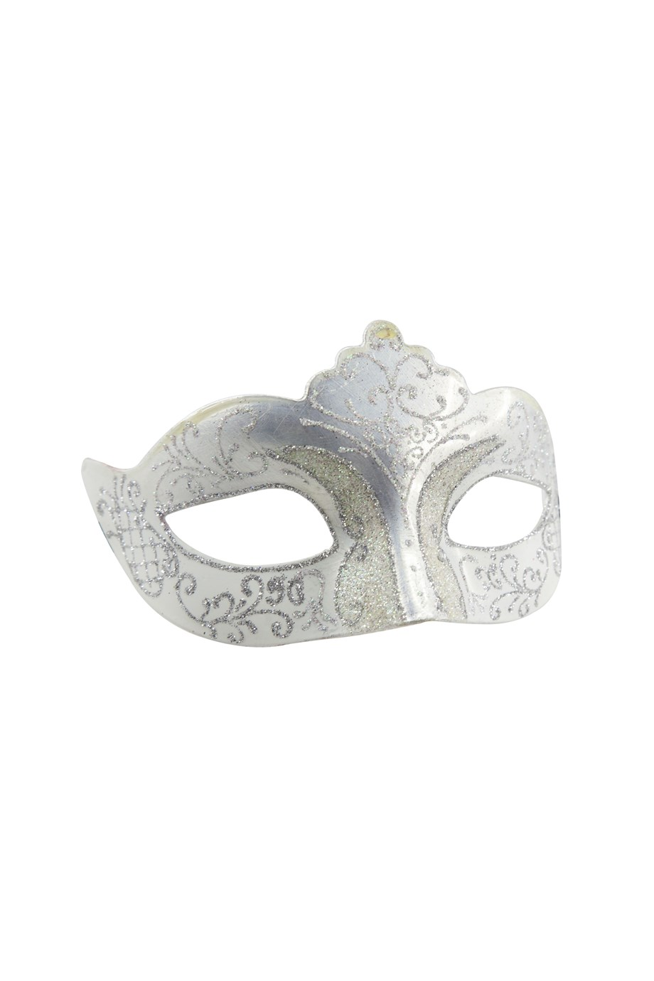 Masker venetie glitter zilver