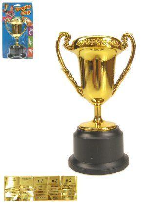 Plastic trofee op blister 12.5cm