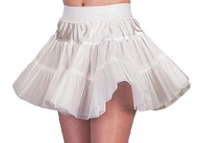 Petticoat kort wit hard voor kind