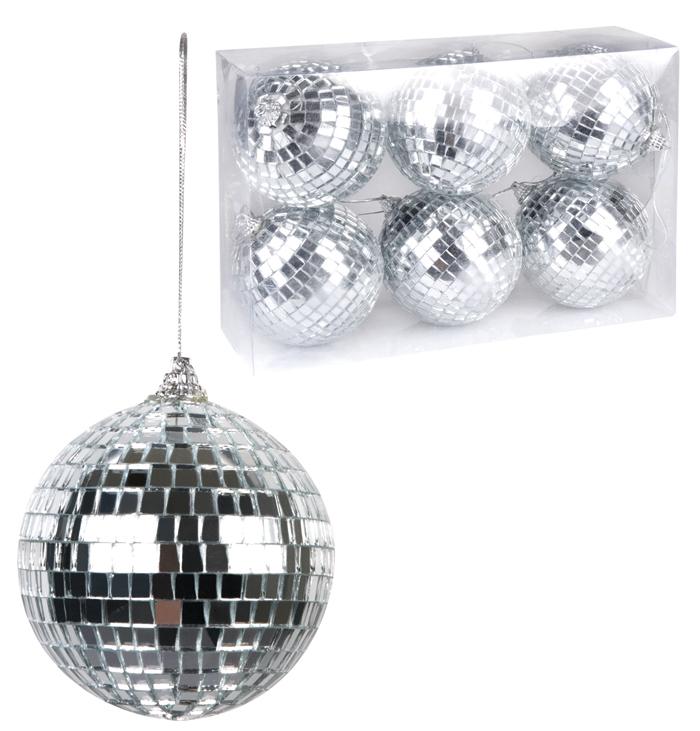 Disco glitterbal set van 6 stuks