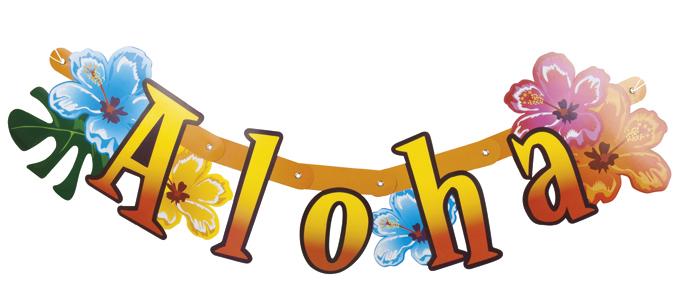 Letter slinger Aloha 83cm
