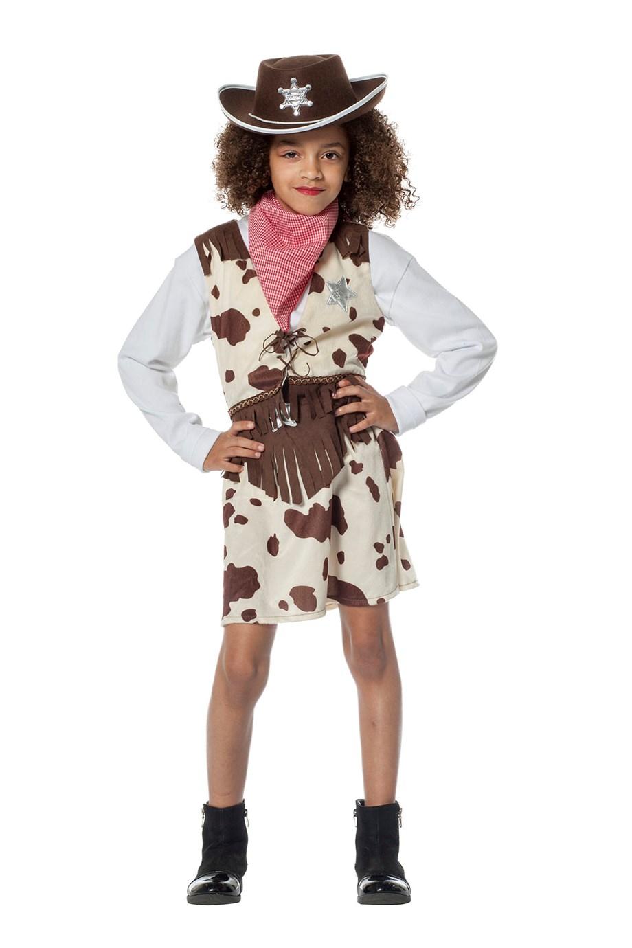 Cowgirl koeienprint voor meisje