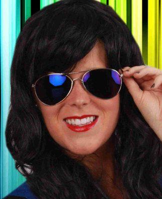 Pilotenbril met blauw spiegelglas