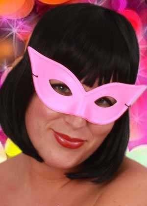 Oogmasker vlindermodel pink