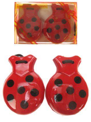 Castagnetten rood/zwart bollen