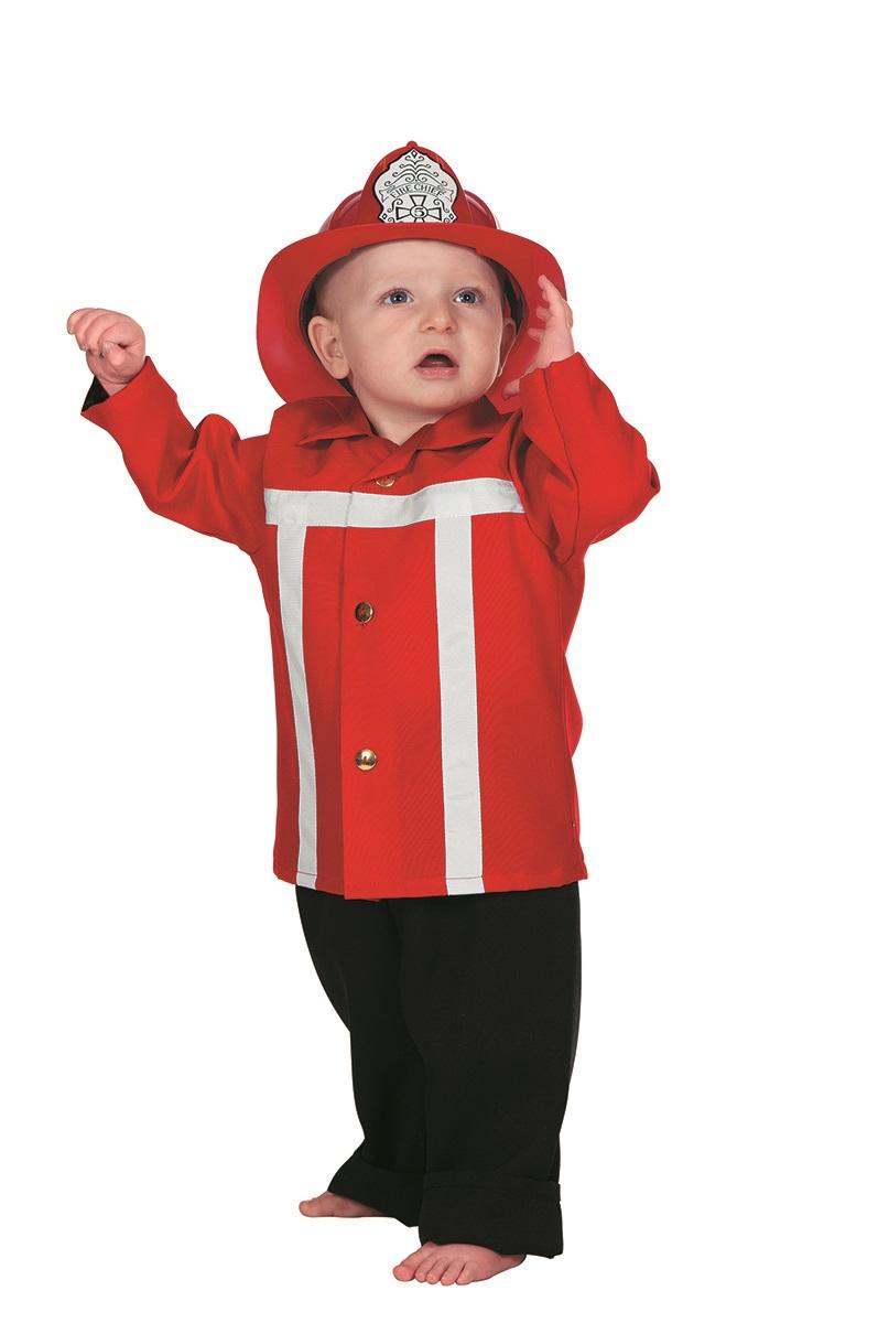 Brandweerman rood voor baby