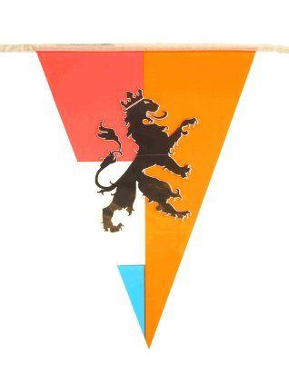 Oranje retro vlaggenlijn punt model 10 meter