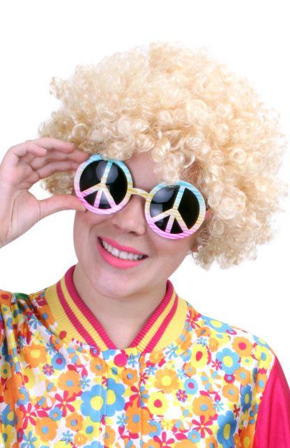 Budget hippy pruik blond