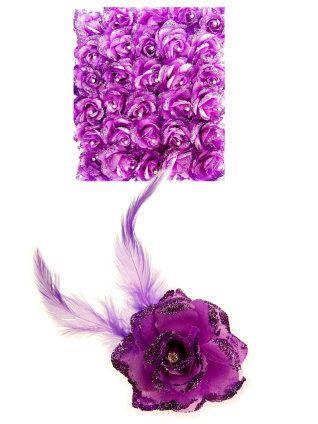 Bloem met speld/clip lila