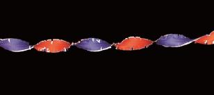 Crepe slinger rood/wit/blauw 5m