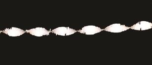 Crepe guirlande Wit 6m