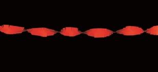 Crepeguirlande Rood 5m