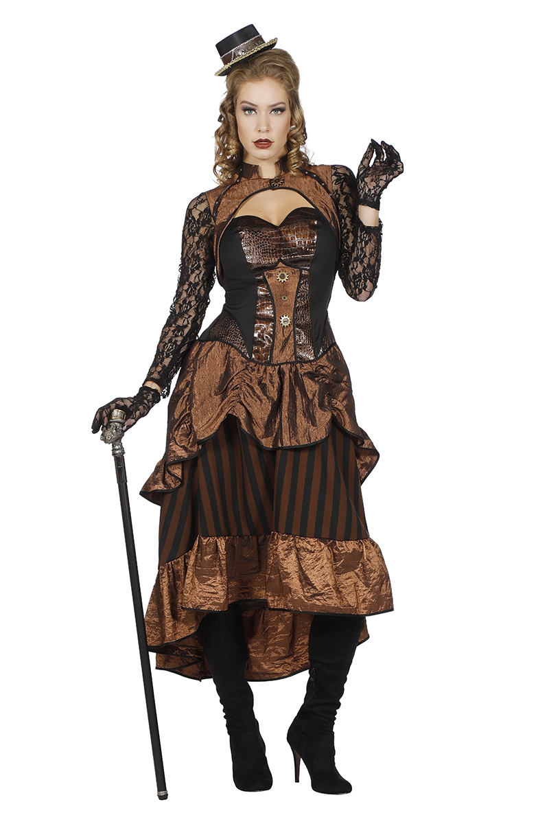 Steampunk jurk Victoria voor dame