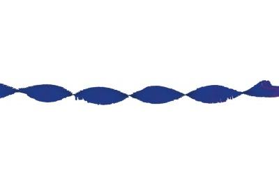 Crepeguirlande Marineblauw 24m