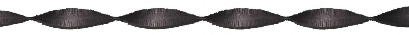 Crepeguirlande Zwart 5m