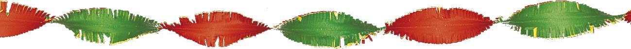 Crepeguirlande rood/geel/groen 24m