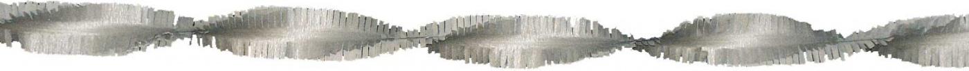 Crepe guirlande zilver 24m