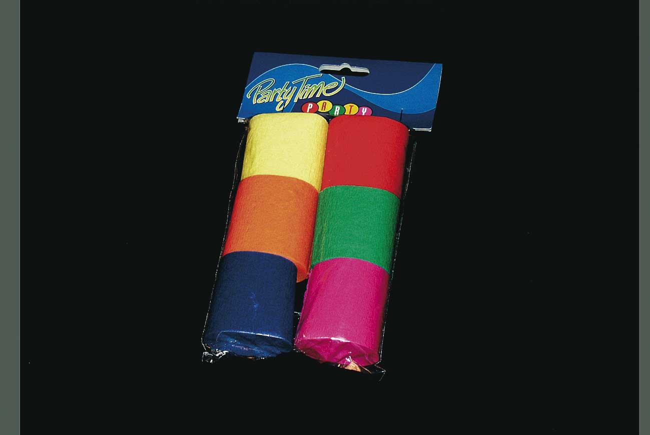 Creperollen 6 stuks assorti kleuren
