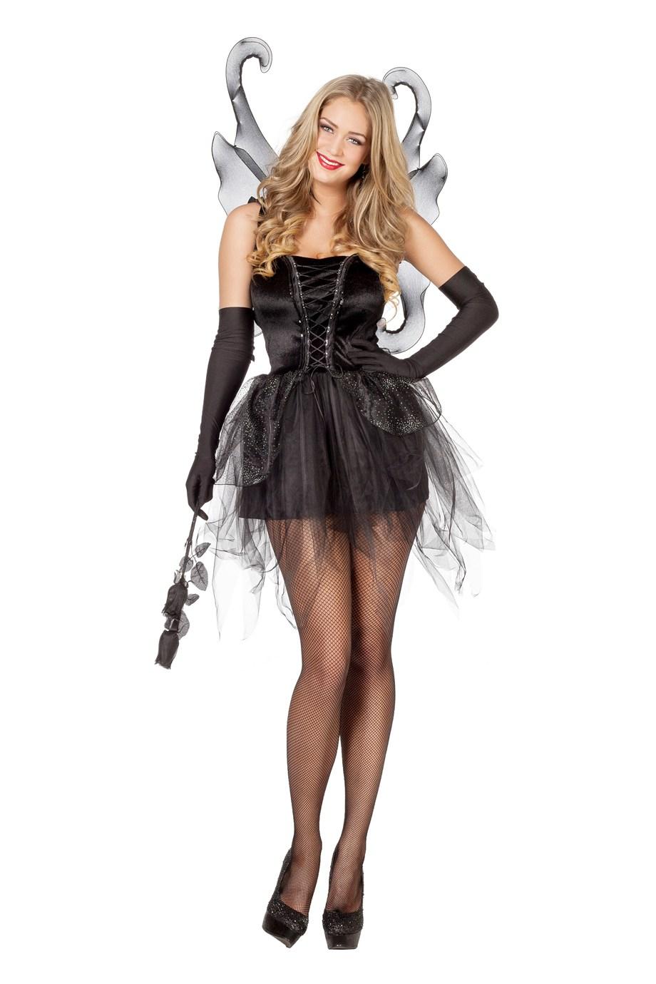 Vlinder jurk zwart met vleugels