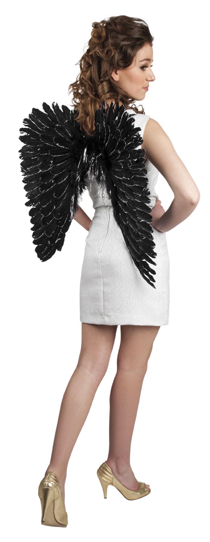 Engelen vleugels zwart splendour 57x62cm