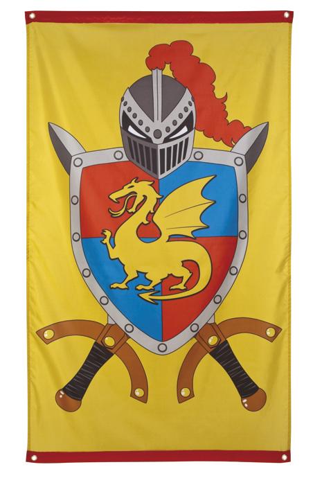 Vlag ridder&draken 150x90cm
