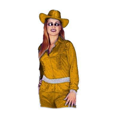 Ruches blouse pansamt oranje