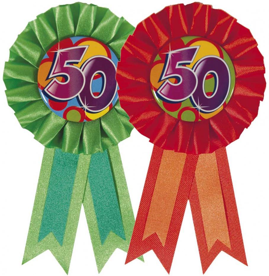 Rozet 50 Jaar wordt per stuk en per kleur geleverd
