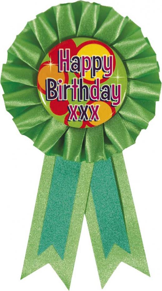 Rozet Happy birthday.