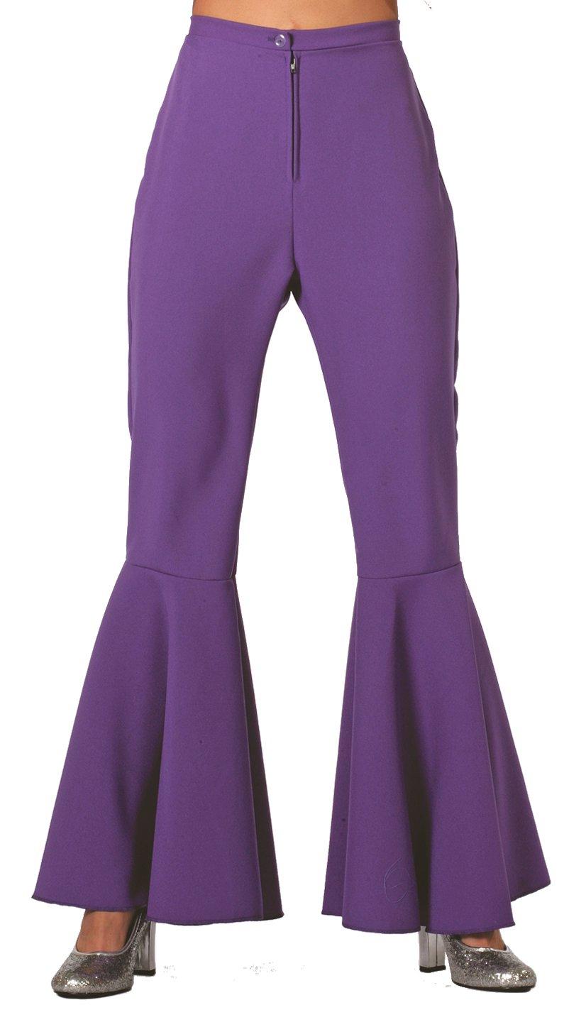 Hippie broek paars voor dame