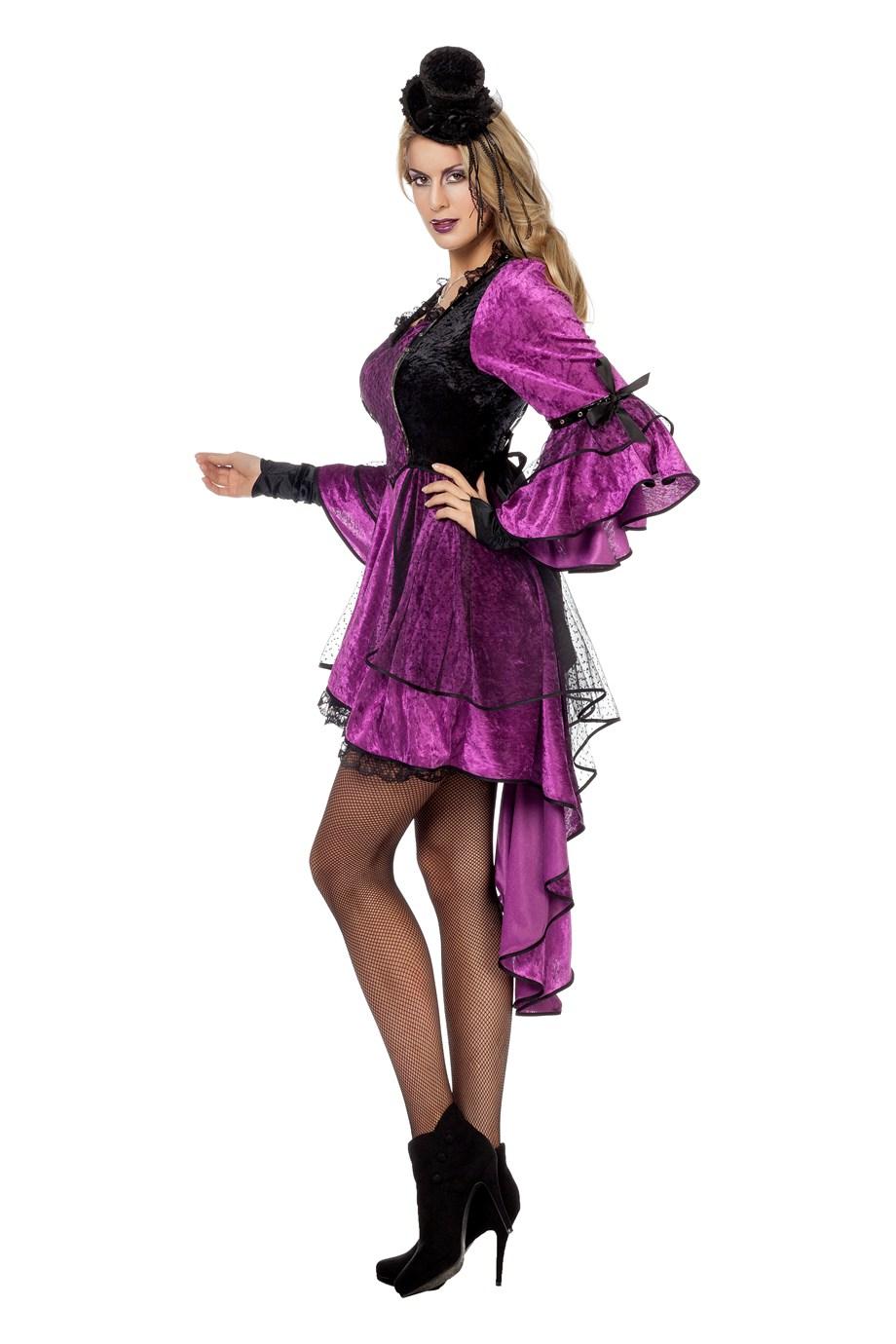 Gothic jurk paars voor dame
