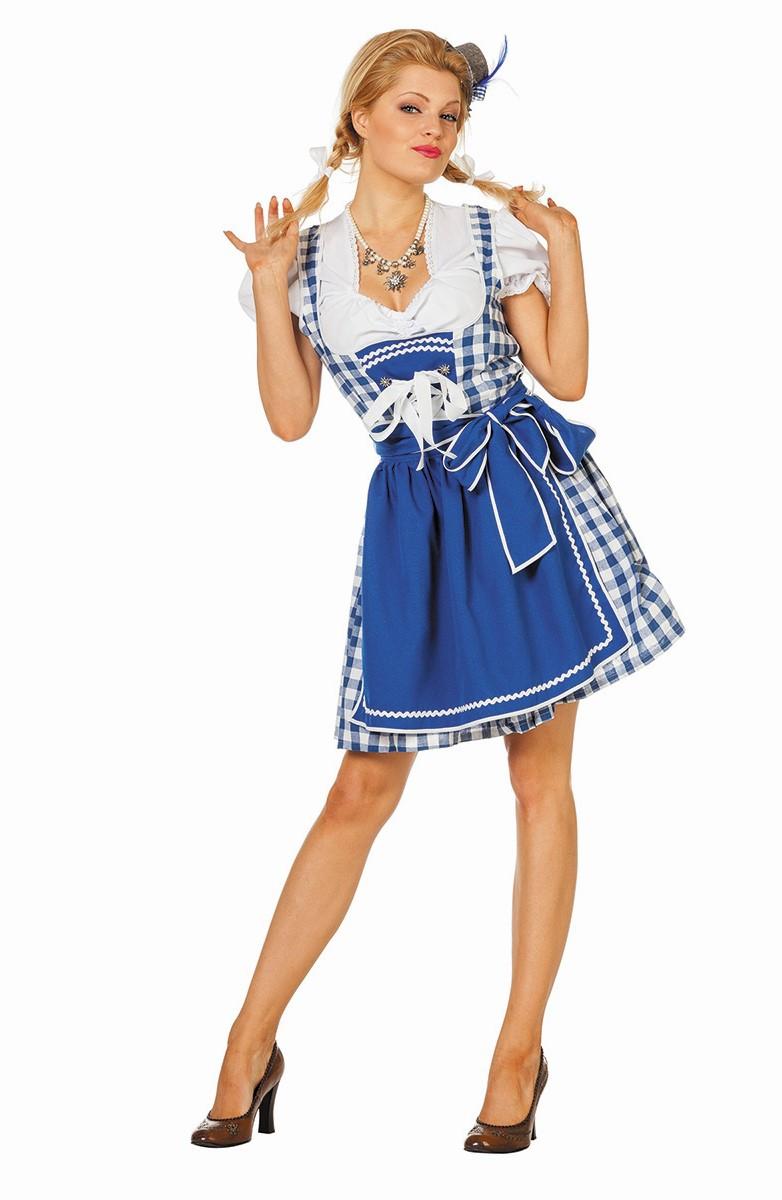 Tiroler jurk Dirndl Birgitte blauw voor dame